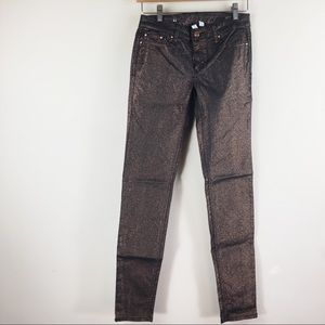 5 for $15 clearance MNG bronze glitter jeans